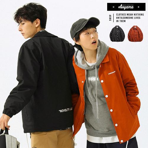 教練外套 美式 Coach Jacket 翻領情侶教練外套【XD016】外套 防風外套 情侶外套 MA1 工裝外套