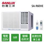 SANLUX 台灣三洋 9坪 窗型右吹式變頻冷氣 SA-R60VE 含基本安裝(限北北基桃)