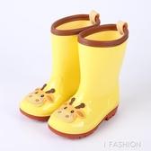時尚卡通兒童雨鞋男童女童水鞋嬰幼兒寶寶學生膠鞋中筒雨靴-Ifashion
