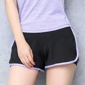 夏季防走光假兩件大碼寬鬆健身瑜伽褲跑步速幹高腰運動短褲女