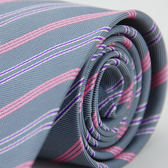 【Alpaca】灰底粉紫斜紋領帶