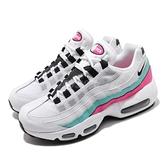Nike 休閒鞋 Wmns Air Max 95 白 黑 女鞋 運動鞋 反光設計 【ACS】 307960-117