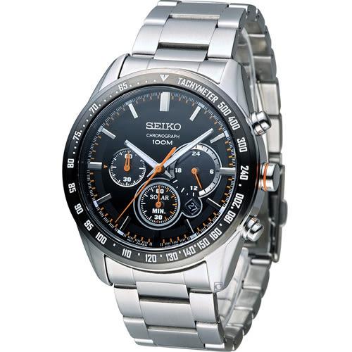 SEIKO Criteria 極速狂風太陽能計時腕錶 V175-0DK0R SSC463P1