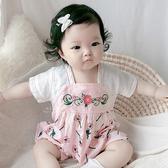 中國風漢服花朵刺繡包屁衣 連身衣