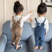 兒童寶寶牛仔背帶褲女童裝小童嬰兒春秋長褲【奇趣小屋】