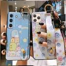 日韓全包三星S21保護殼 卡通Galaxy S21+保護套 創意清新三星S21 Ultra手機殼 腕帶SamSung S21手機套
