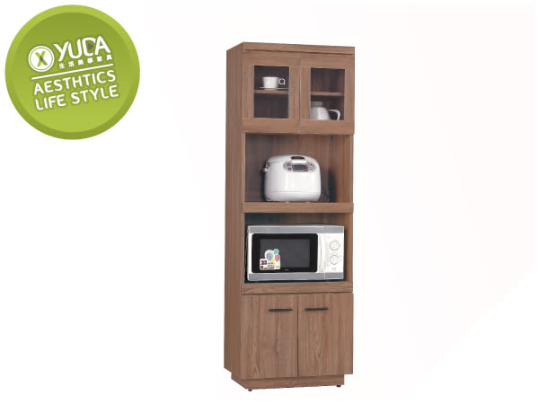 【YUDA】比提 木心板 2*6尺 柚木色 拉盤 餐櫃/收納櫃/置物櫃 J8S 214-4