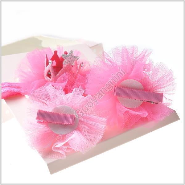 現貨 髮飾禮盒 3入 髮帶+髮夾 蝴蝶結 寶寶 嬰兒 頭帶 彌月送禮 搭配禮服 婚禮【 G5168】