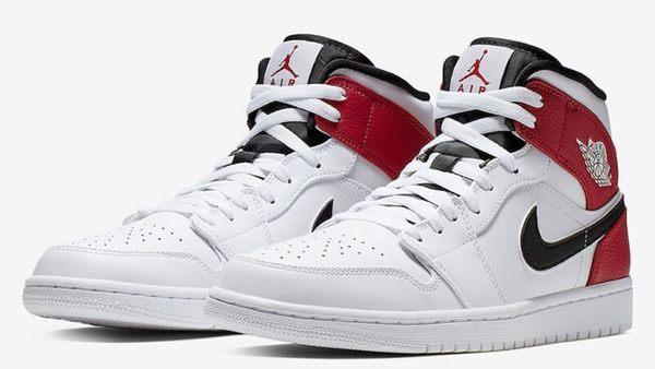 NIKE系列-AIR JORDAN 1 MID 男款運動籃球鞋 白紅-NO.554724116