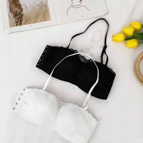 2018夏季新款韓版時尚網紗抹胸聚攏無鋼圈文胸防走光美背少女內衣