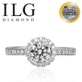 【ILG鑽】Laurel 永恆之心 0.75克拉戒指-頂級美國ILG鑽飾,媲美真鑽亮度的鑽飾 RiP30
