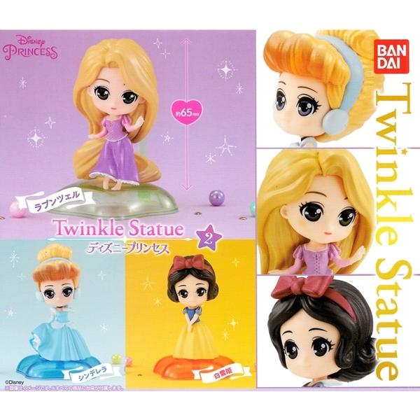 全套3款【日本正版】迪士尼公主 Q版環保扭蛋 P2 扭蛋 轉蛋 公仔 仙杜瑞拉 長髮公主 - 580331