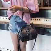 貝殼包鉚釘夾口貝殼小包包女韓版時尚手提包chic鍊條斜背包 伊鞋本鋪