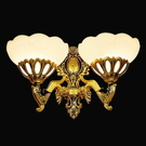 【AJ494】歐式雙頭壁燈9178/2W(免運) 復古銅燈 樓梯燈 走道燈 雙頭床頭燈 簡歐臥室燈 EZGO商城