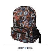 HAPITAS 日本原廠授權H0006-MK摺疊後背包 旅行收納包旅行袋迪士尼米奇花色-美冠皮件