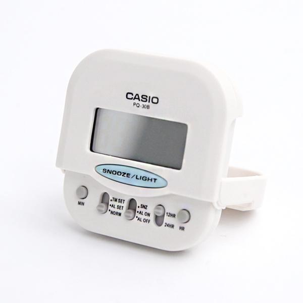 鬧鐘 CASIO純白口袋型電子鐘 柒彩年代【NVC10】原廠公司貨