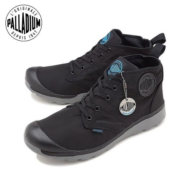 【南紡購物中心】【PALLADIUM】PALLAVILLE MID PUDDLE WP 防水運動軍靴 / 黑 男鞋