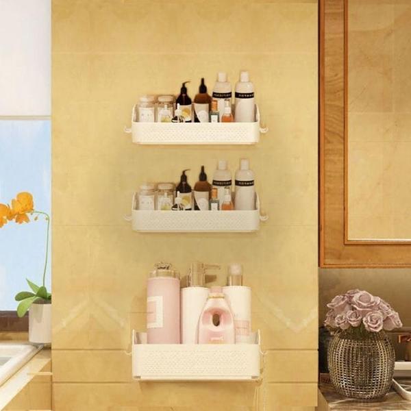 衛生間置物架洗手間洗漱台吸壁式免打孔廁所壁掛收納架浴室置物架HPXW