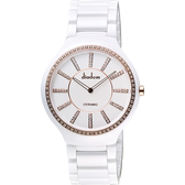 Diadem 黛亞登邱比特傳愛系列陶瓷腕錶-白x玫塊金框/38mm 8D1601-611SRGD-RGD
