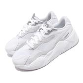Puma 休閒鞋 RS-X3 Puzzle 白 灰 銀 男鞋 女鞋 復古慢跑鞋 運動鞋 老爹鞋 【ACS】 37157003