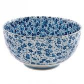 藍染小花 6吋麵碗 16cm S3-15