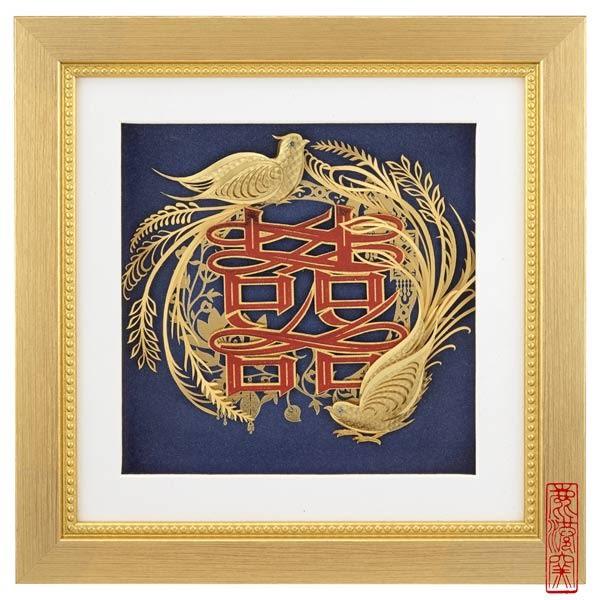 鹿港窯~立體金箔畫-真愛系列【比翼雙飛】雅鑑鑫品