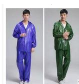 牛筋分體套裝加厚雨衣雨褲成人戶外出行騎行工用農用套裝雨衣三角衣櫥