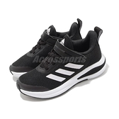 adidas 慢跑鞋 FortaRun EL K 白 黑 童鞋 中童鞋 魔鬼氈 運動鞋 【ACS】 FW2579