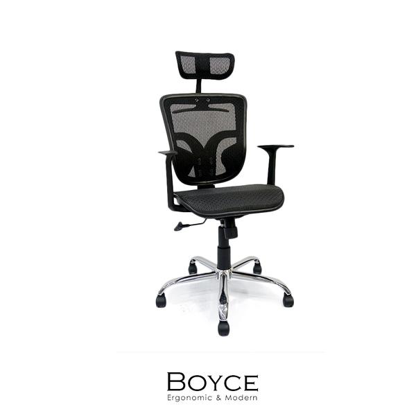 辦公椅/電腦椅 Boyce頭靠透氣網布辦公椅/電腦椅【obis】