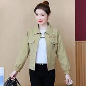 小外套~夾克 短版外套 開衫外搭秋裝韓版寬松百搭小西裝外套女短款工裝夾克上衣T888依佳衣