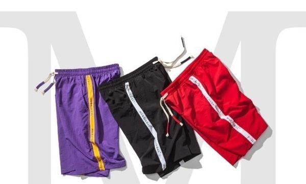 FINDSENSE 正韓薄款短褲 G6 2019夏款新款條紋織帶短褲 休閒短褲