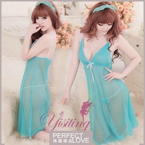性感睡衣 女性商品 推薦內睡衣《Yisiting》為愛癡狂!性感網紗二件式睡衣