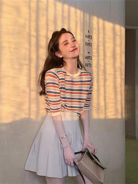 短袖洋裝-2020年夏季新款成熟女裝時尚輕熟風元氣少女甜美穿搭百褶套裝裙子