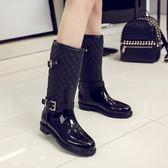 時尚馬丁雨鞋女中筒韓國防水鞋女成人水靴防滑雨靴  萬客居