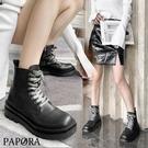 PAPORA拉鍊厚底增高短筒學生鞋中筒靴短靴KK7005