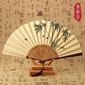 扇子折疊扇夏季復古便攜隨身中國風古典禮品裝飾【巴黎世家】