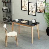 北歐電腦桌台式家用簡約辦公桌寫字台臥室現代簡易書桌實木小桌子RM 免運快速出貨