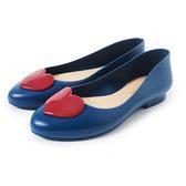 Petite Jolie 紅色果凍愛心娃娃鞋-湛藍
