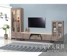 {{ 海中天休閒傢俱廣場 }} G-02 摩登時尚 電視櫃系列 205-1 古橡木10尺L型櫃組
