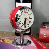 現代簡約歐式台鐘大鈴聲金屬復古擺件小鬧鐘臥室床頭學生個性鬧鐘WY 【萬聖節促銷】