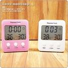 【樂樂購˙鐵馬星空】糖果四方大字幕溫溼度計時鐘 溫濕度計 時鐘 鬧鐘 萬年曆*(E09-012)