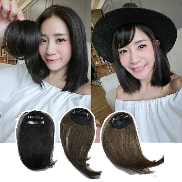 魔髮樂Mofalove 100%真髮 隱形無痕空氣瀏海髮片 韓系喬妹空氣劉海髮片 L011