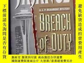 二手書博民逛書店英文原版罕見Breach of Duty by J. A. Ja