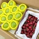 【果之蔬-全省免運】牛奶特蜜棗x12顆+空運櫻桃9.5RX1kg盒(禮盒)