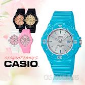 CASIO手錶專賣店 LRW-200H-2E3 兒童錶 防水100米 膠質錶帶 可旋轉錶圈 日期顯示 藍色銀面 LRW-200H