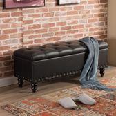 歐式收納凳儲物凳箱服裝店沙發凳子長方形家用換鞋凳實木鞋櫃可坐 週年慶降價