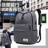 【宅小妹】時尚旅行休閒USB後背包