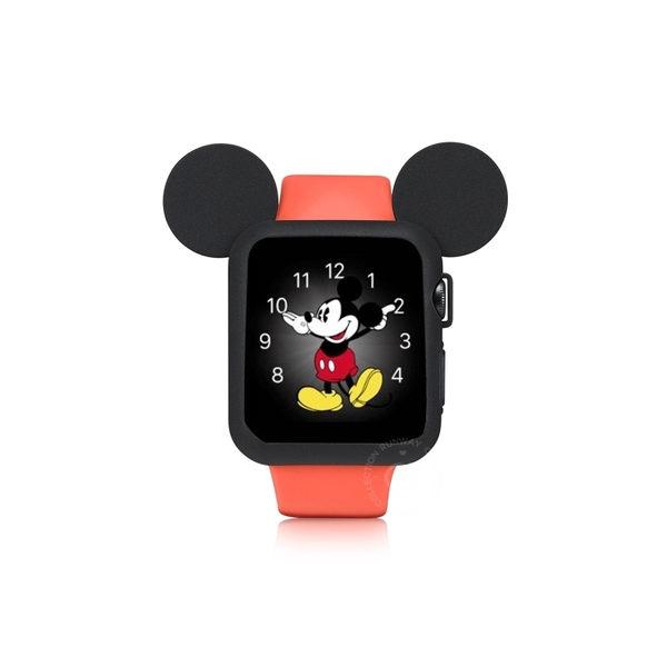 Apple watch 錶帶 米奇保護手錶套組 保護殼 運動矽膠手錶帶 watch1/2/3/4手錶錶帶 蘋果手錶