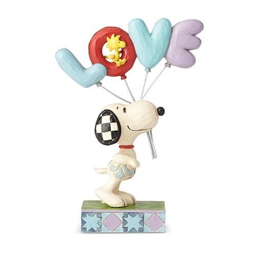 《Enesco精品雕塑》SNOOPY LOVE愛戀氣球塑像-Love is in the Air(Peanuts by Jim Shore)★funbox★_EN97317