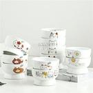 快速出貨寵物陶瓷碗日式貓碗高腳陶瓷貓糧碗水碗寵物碗防頸椎病貓食盆